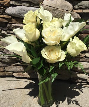 All white flowers are a simple gesture to extend to a friend or loved one.