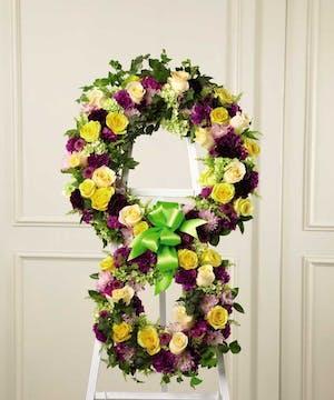 Inspiring floral tribute