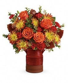 Teleflora's Heirloom Crock Bouquet - Bosland's Flower Shop