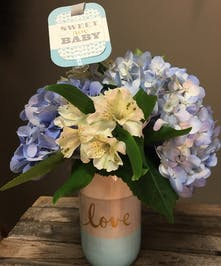 Baby Love Boy - Floral Bouquet - Bosland's Flowers