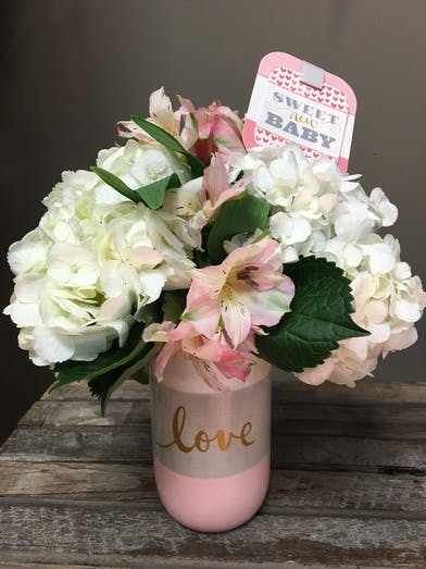 Baby Love Girl - Floral Bouquet - Bosland's Flowers