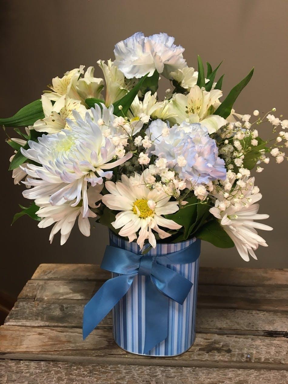 Joyful Baby Boy - Floral Bouquet - Bosland\'s Flowers