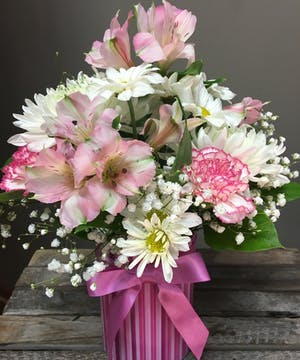 Joyful Baby Girl - Floral Bouquet - Bosland's Flowers