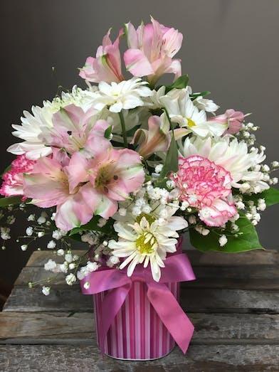 Joyful Baby Girl - Floral Bouquet - Bosland's Flowers