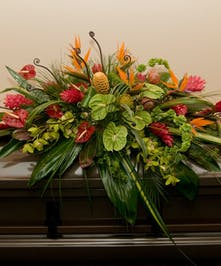 A wonderful design of tropical blooms