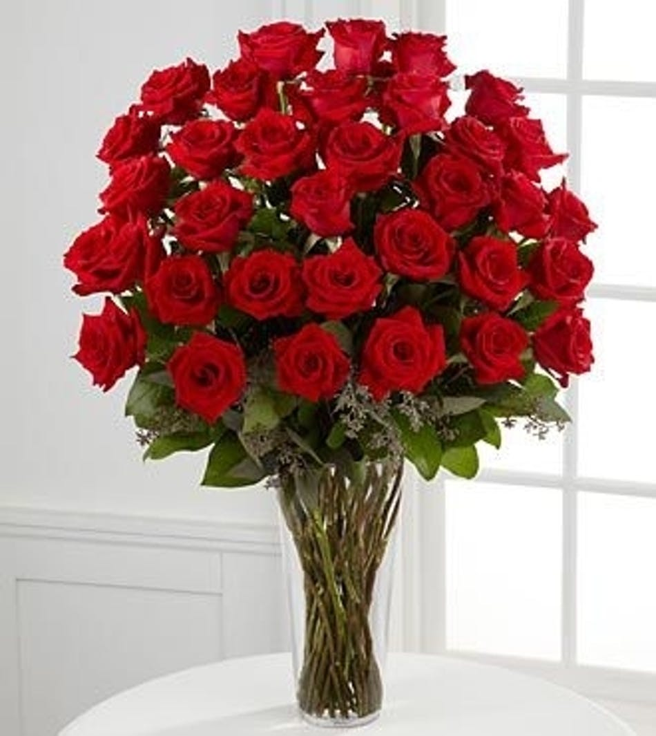 36 Red Roses Beautiful Hand Picked Ecuadorian Delivered By Wayne Nj Florist Blosland S Flower