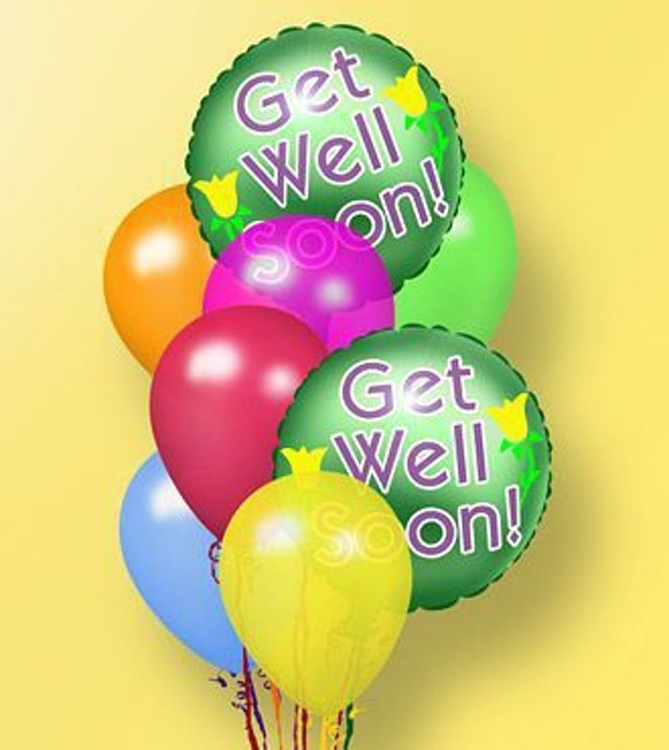 Get Well Soon Balloon Bouquet: Earn reward points with your purchase ...